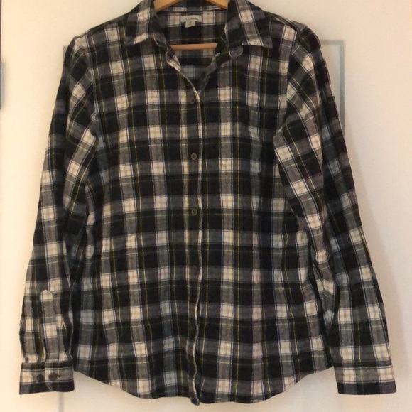 907a0a8da68 L.L. Bean Tops | Llbean Womens Scotch Plaid Shirt Relaxed | Poshmark